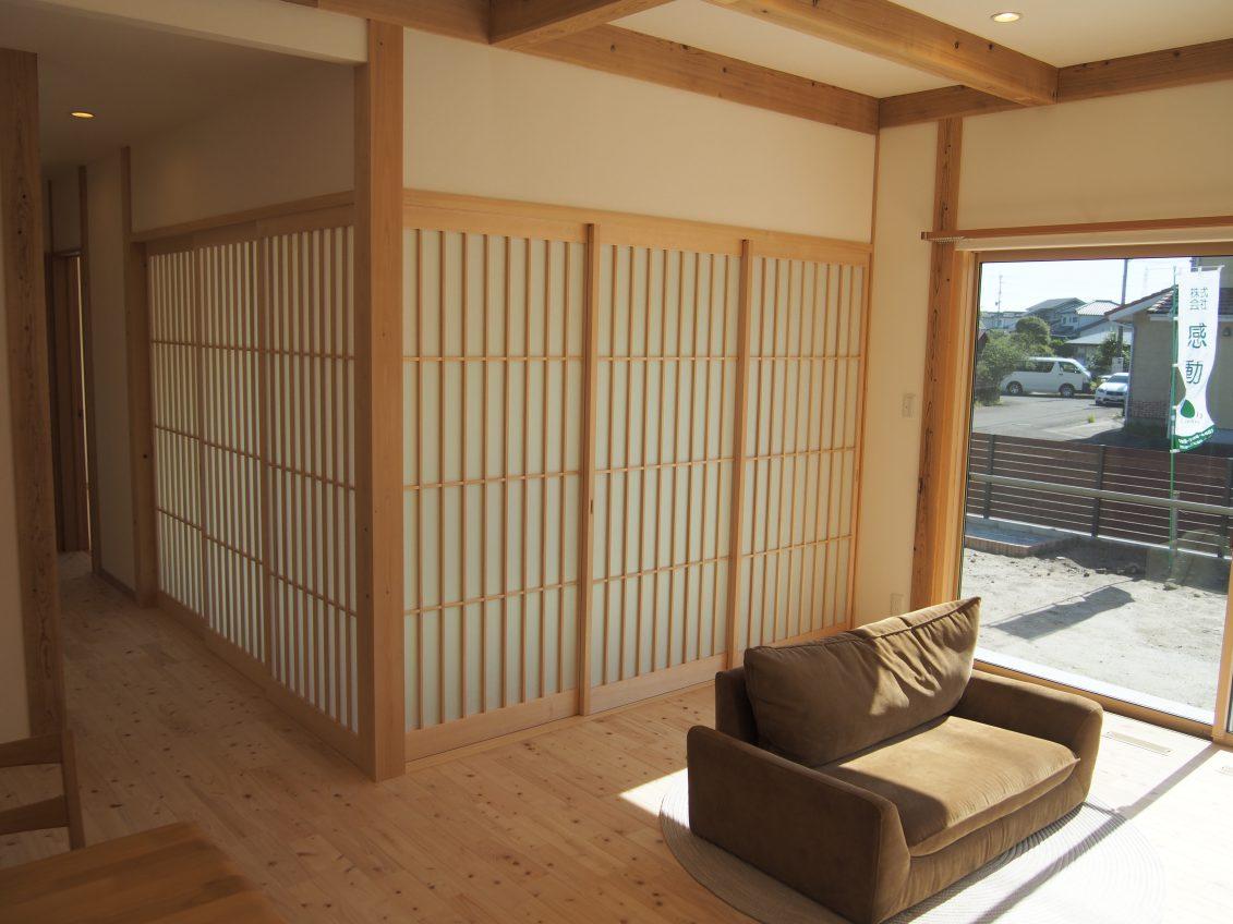 施工事例:ビルトインガレージのある平屋の家
