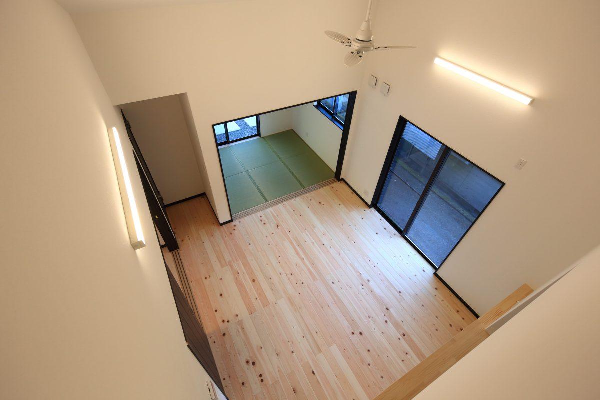 施工事例:LDKと繋がるお部屋がある開放的な間取りのお家