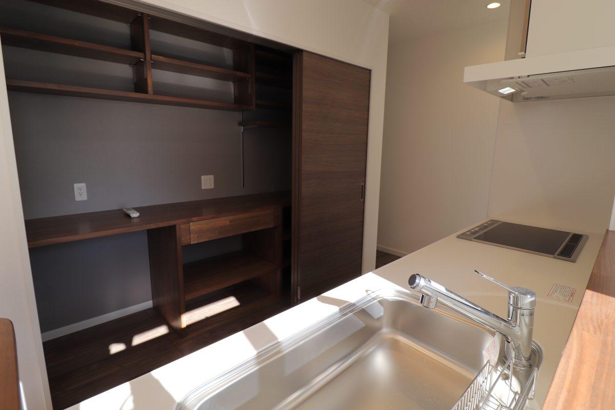 施工事例:キッチンの収納が魅力的なお家